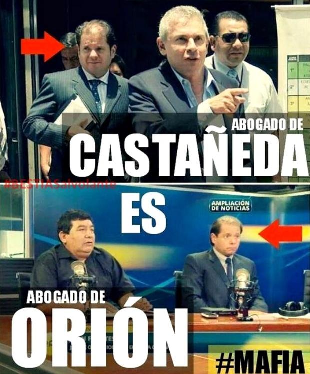 ¿Abogado de Castañeda es el mismo abogado de la Orion?