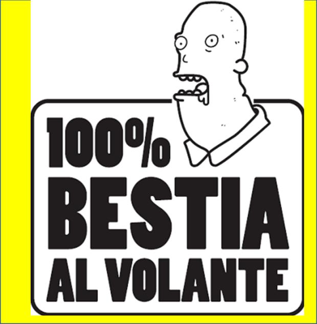Sticker para pegar en los autosde las Bestias al volante