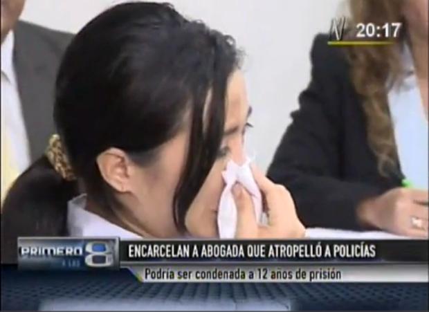 abogada que atropello policias en san isidro