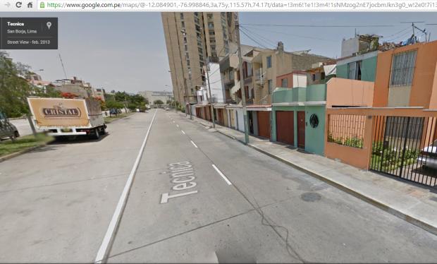 calle la tecnica - San Borja
