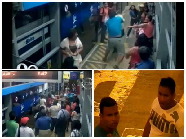 metro11 - vía @LChinoGarate, brutal agresión a vigilante del metorpolitano